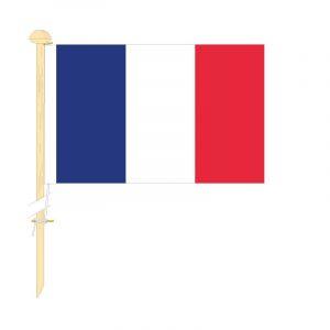 Tafelvlag Frankrijk afm. 10x15cm