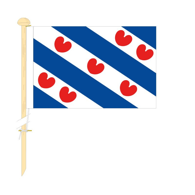 Tafelvlag Friesland afm. 10x15cm