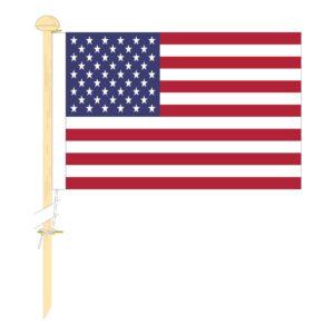Tafelvlag Amerika (USA) afm. 10x15cm