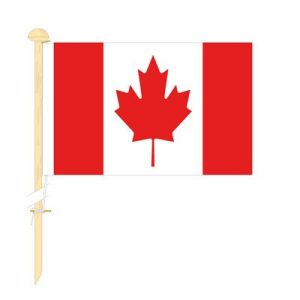 Tafelvlag Canada afm. 10x15cm