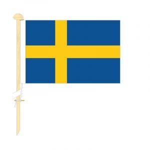 Tafelvlag Zweden afm. 10x15cm