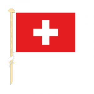 Tafelvlag Zwitserland afm. 10x15cm