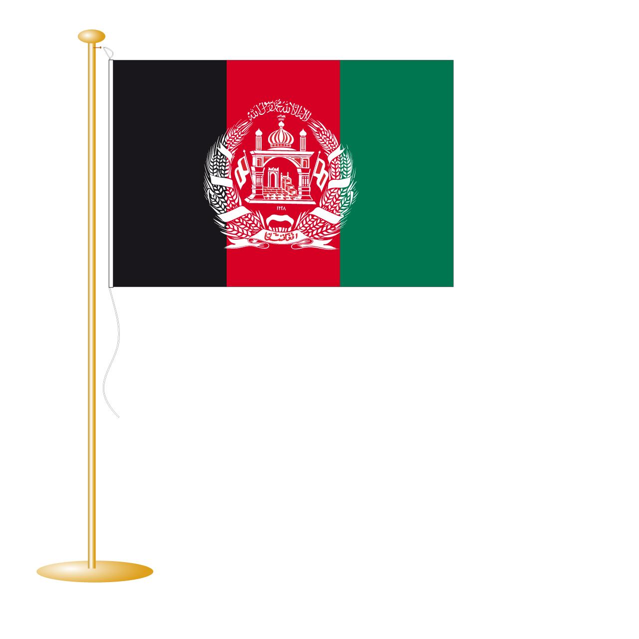 Tafelvlag Afganistan afm. 10x15cm