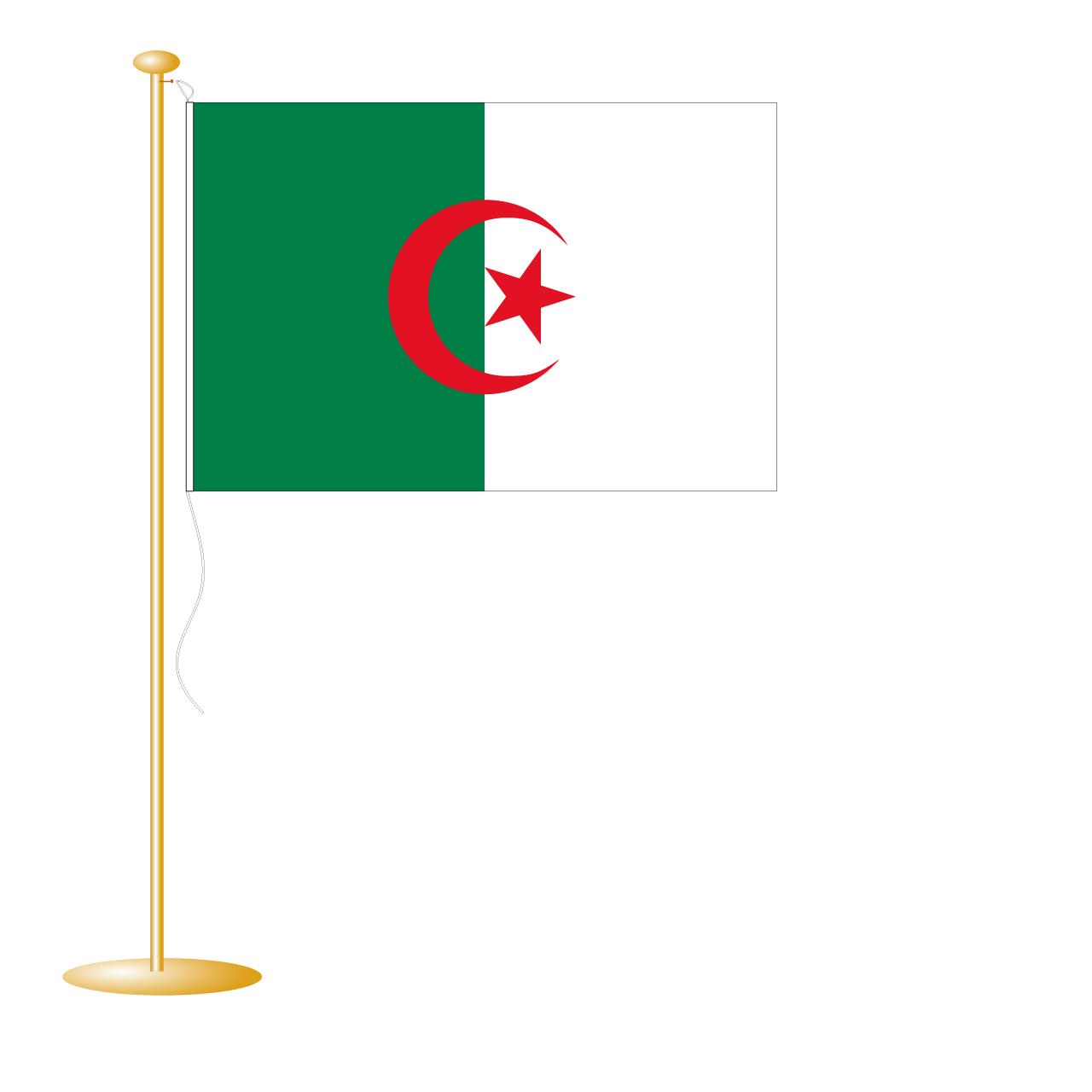 Tafelvlag Algerije afm. 10x15cm