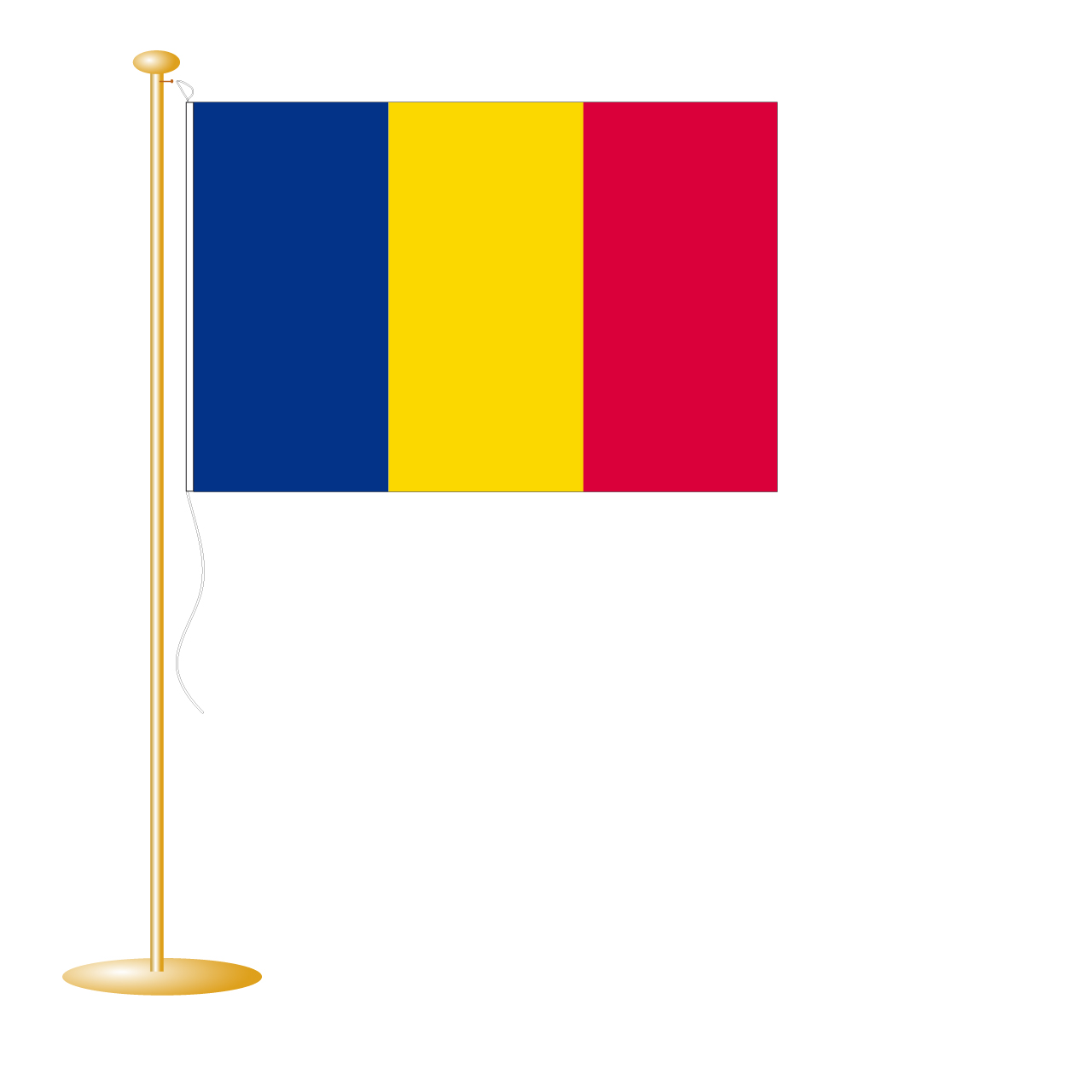 Tafelvlag Andorra afm. 10x15cm