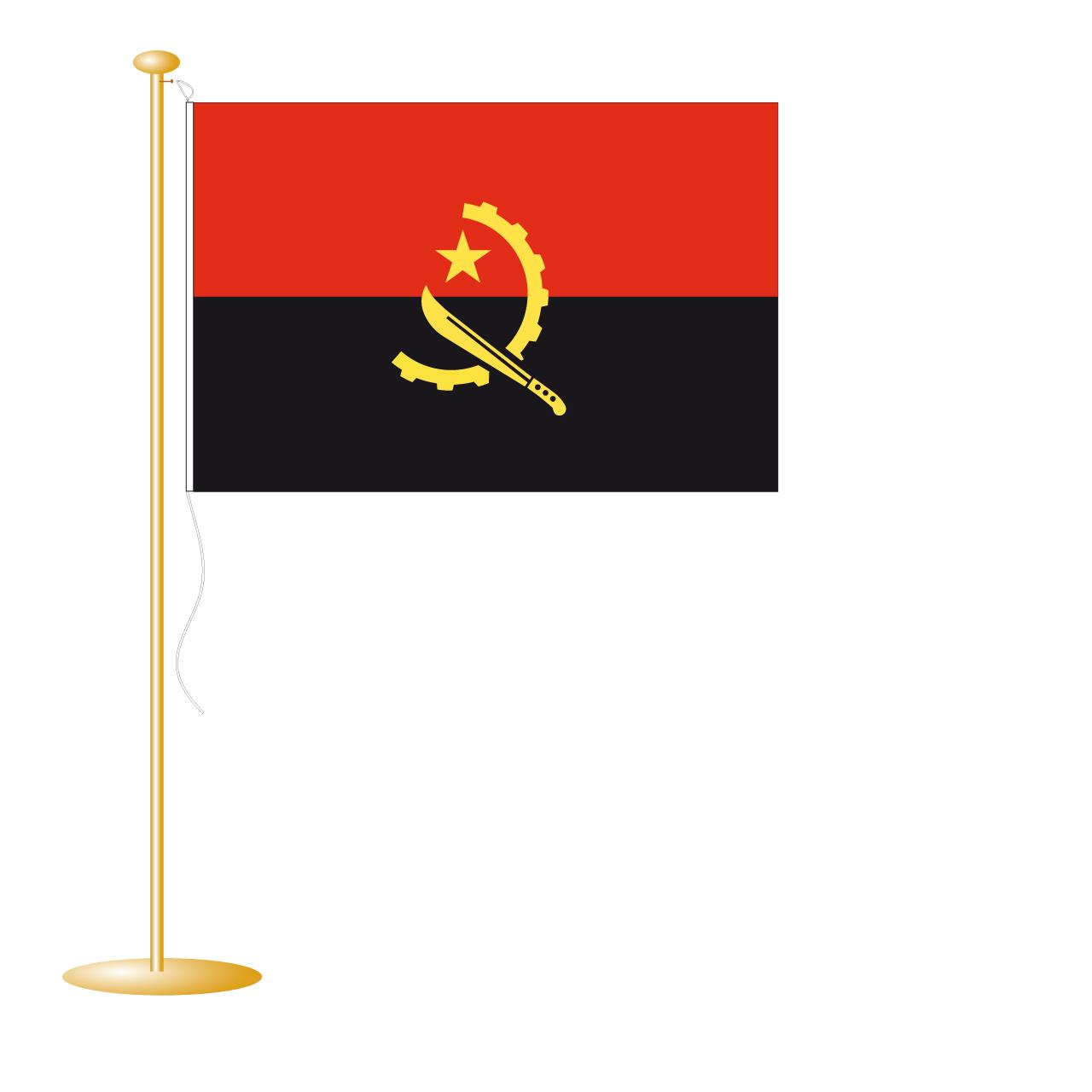 Tafelvlag Angola afm. 10x15cm