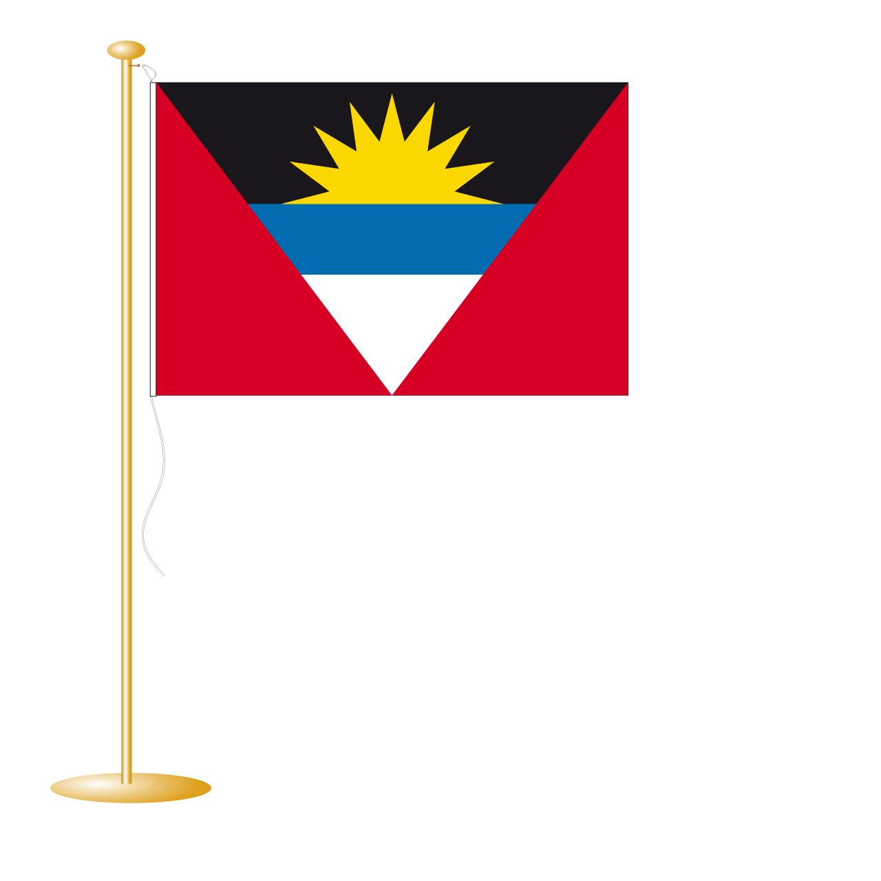 Tafelvlag Antigua afm. 10x15cm