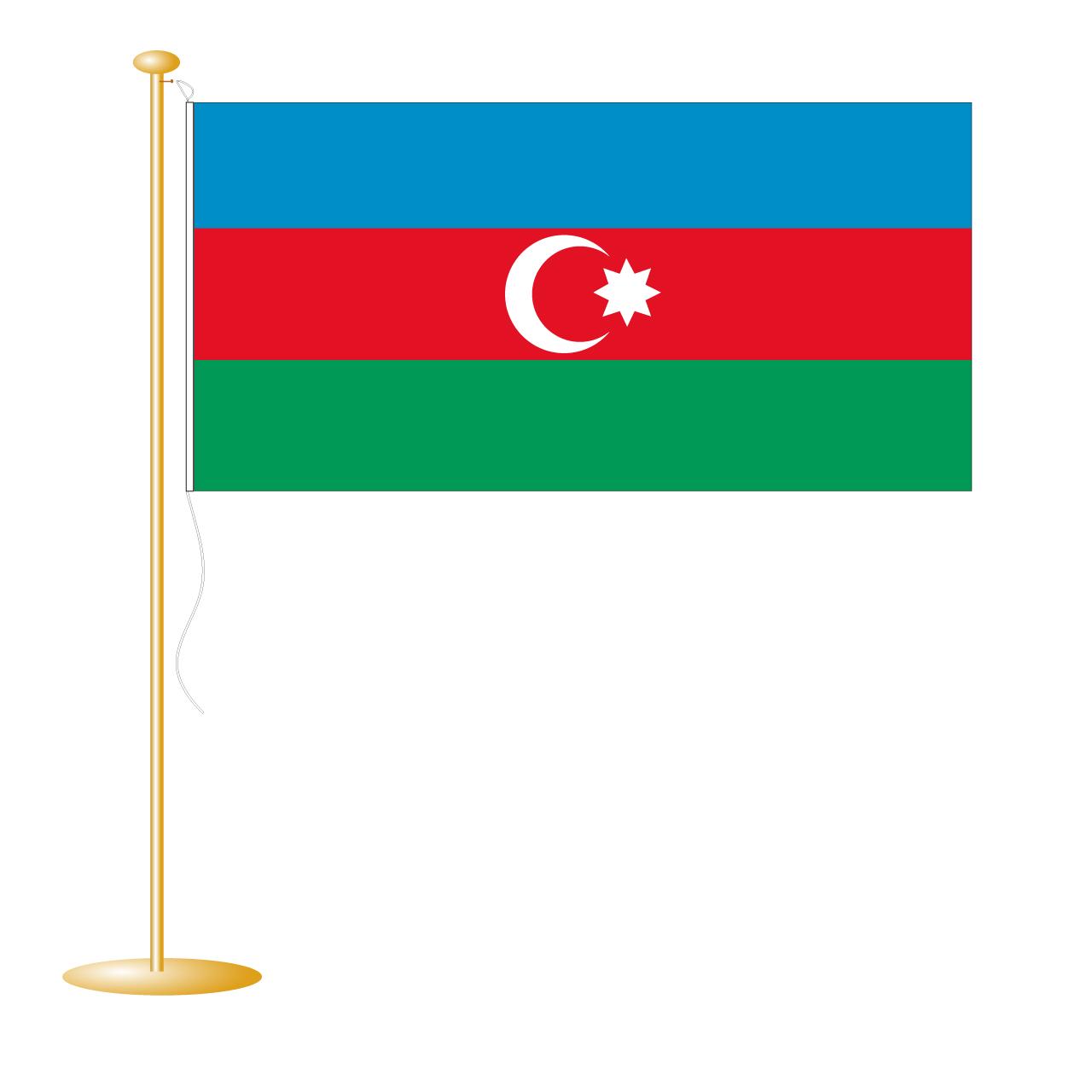 Tafelvlag Azerbaidzjan afm. 10x15cm