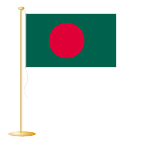 Tafelvlag Bangladesh afm. 10x15cm