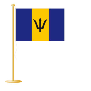 Tafelvlag Barbados afm. 10x15cm