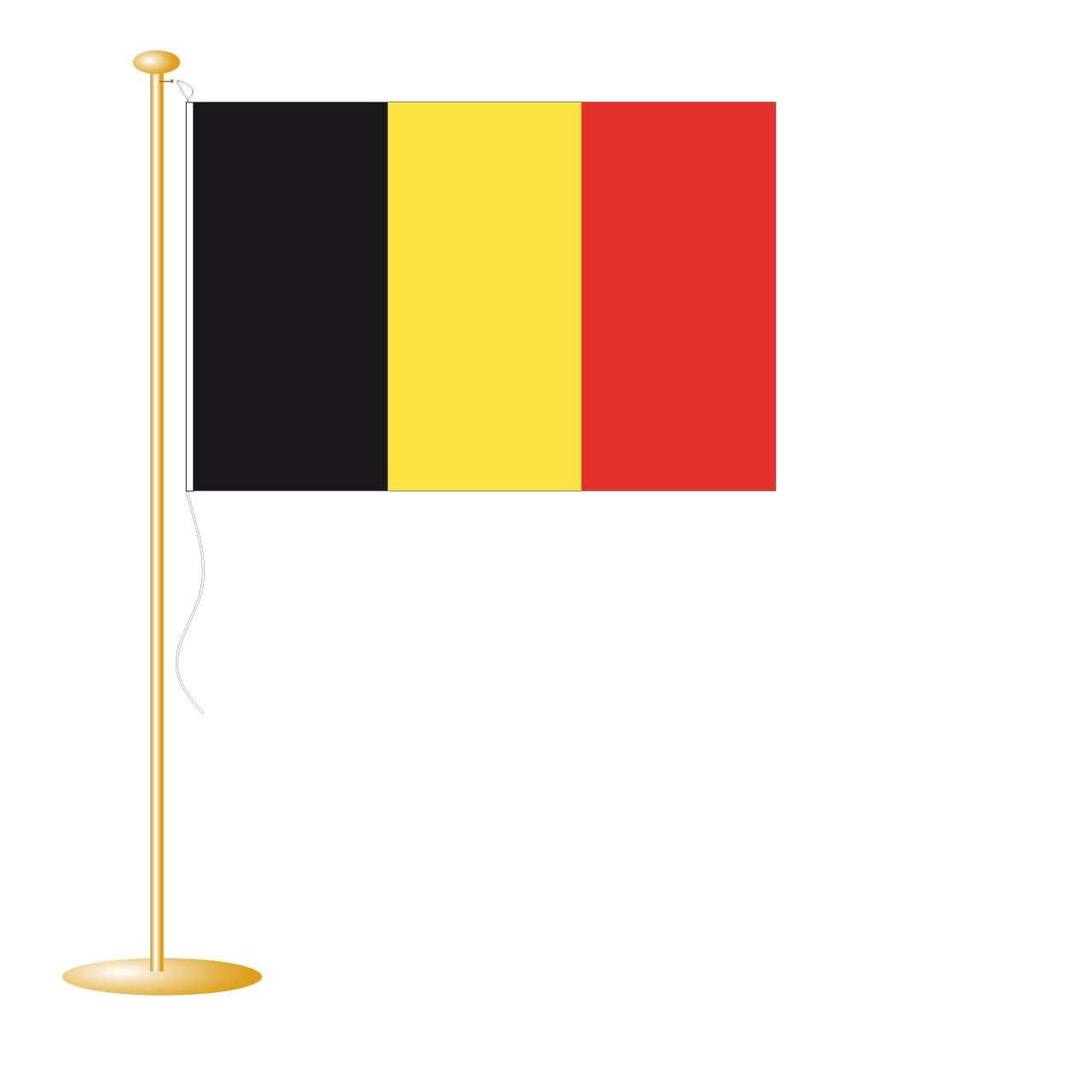 Tafelvlag België afm. 10x15cm