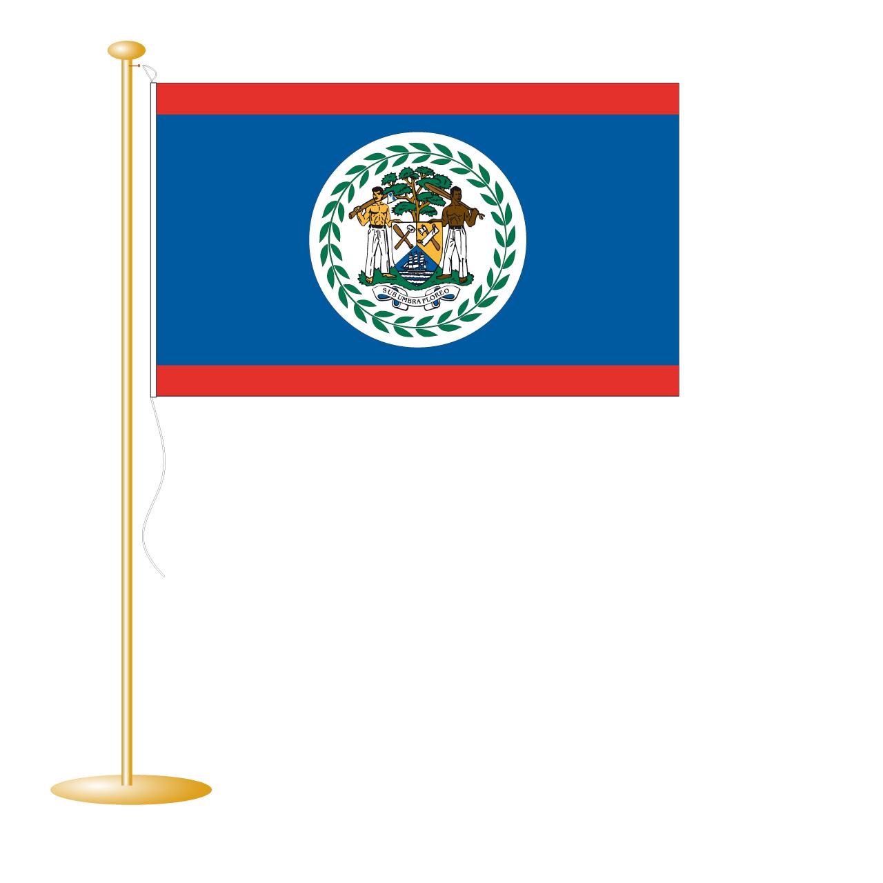 Tafelvlag Belize afm. 10x15cm