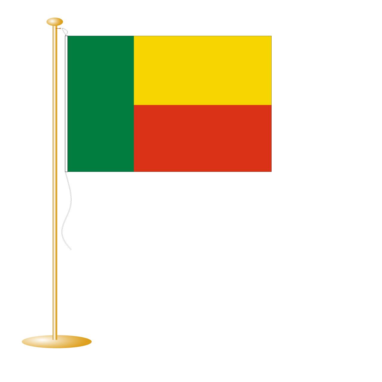 Tafelvlag Benin afm. 10x15cm