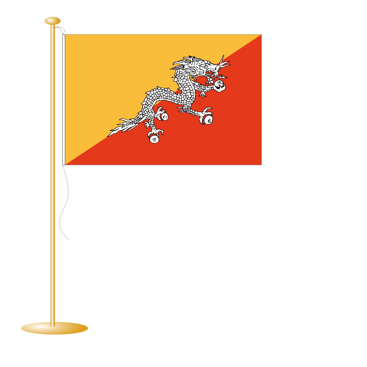 Tafelvlag Bhutan afm. 10x15cm