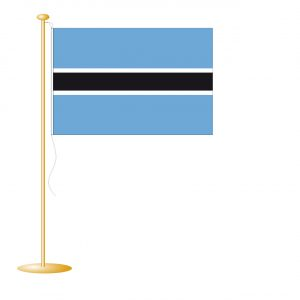 Tafelvlag Botswana afm. 10x15cm