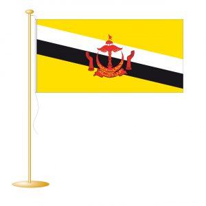Tafelvlag Brunei afm. 10x15cm