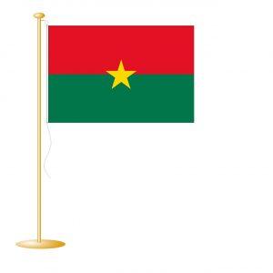 Tafelvlag Burkina Faso afm. 10x15cm