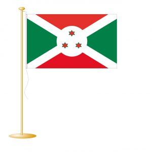 Tafelvlag Burundi afm. 10x15cm