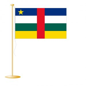 Tafelvlag Centraal Afrika afm. 10x15cm