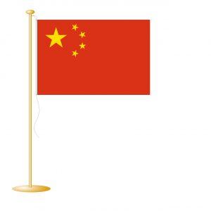 Tafelvlag China afm. 10x15cm