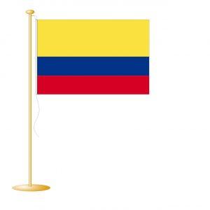 Tafelvlag Colombia afm. 10x15cm