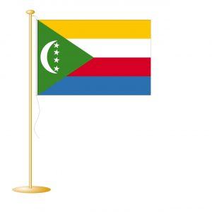 Tafelvlag Comoren afm. 10x15cm