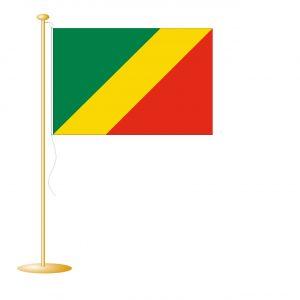 Tafelvlag Congo Brazzaville afm. 10x15cm