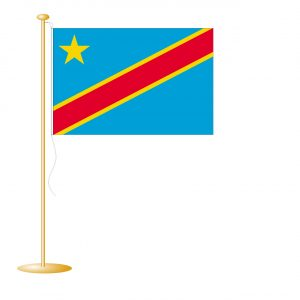 Tafelvlag Congo (Kinshasa) afm. 10x15cm