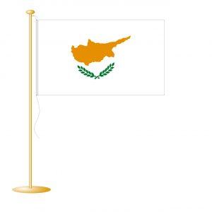 Tafelvlag Cyprus afm. 10x15cm