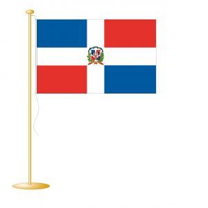 Tafelvlag Dominicaanse Republiek afm. 10x15cm