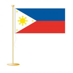 Tafelvlag Filippijnen afm. 10x15cm