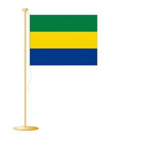 Tafelvlag Gabon afm. 10x15cm