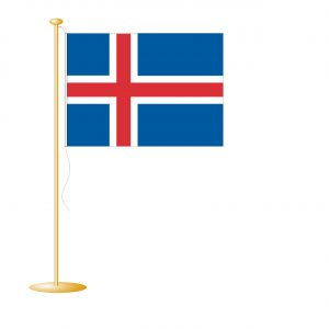 Tafelvlag IJsland afm. 10x15cm