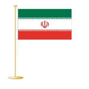 Tafelvlag Iran afm. 10x15cm