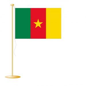 Tafelvlag Kameroen afm. 10x15cm