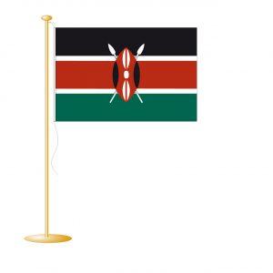 Tafelvlag Kenia afm. 10x15cm