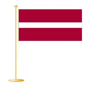 Tafelvlag Letland afm. 10x15cm