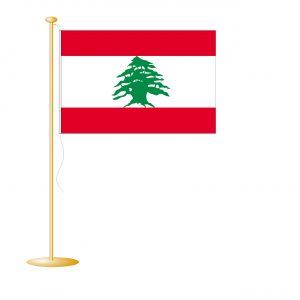 Tafelvlag Libanon afm. 10x15cm