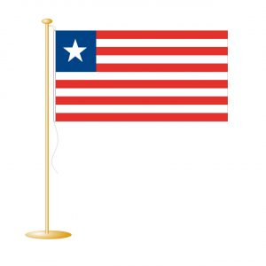 Tafelvlag Liberia afm. 10x15cm