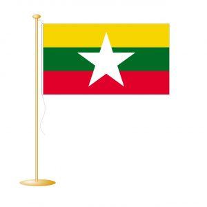 Tafelvlag Birma/Myanmar afm. 10x15cm