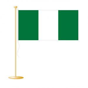 Tafelvlag Nigeria afm. 10x15cm