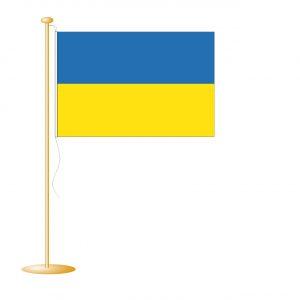 Tafelvlag Oekraine afm. 10x15cm