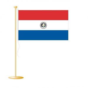 Tafelvlag Paraguay afm. 10x15cm