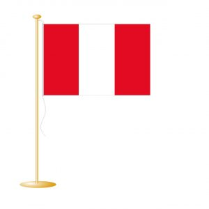 Tafelvlag Peru afm. 10x15cm