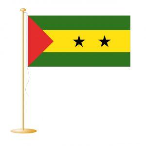Tafelvlag Sao Tome afm. 10x15cm
