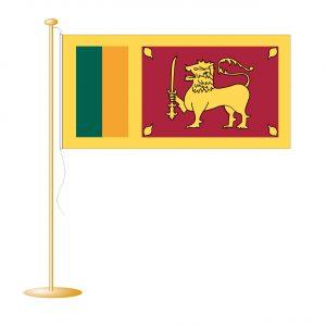 Tafelvlag Sri Lanka afm. 10x15cm