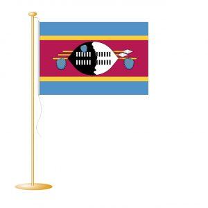 Tafelvlag Swaziland afm. 10x15cm
