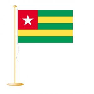 Tafelvlag Togo afm. 10x15cm