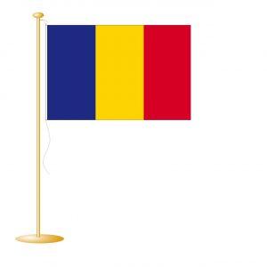 Tafelvlag Tsjaad afm. 10x15cm