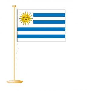 Tafelvlag Uruguay afm. 10x15cm